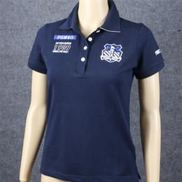 Artigos de vestuário esportivo on-line-Novas Mulheres Peroladas Portões de Treinamento de Golfe T Camisas de Manga Curta Sporting Bens Amantes 'Roupas de Golfe T-Shirts 2 Cores