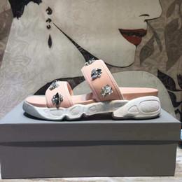 Pattini antisdrucciolevoli della tela di canapa online-Alta 2019 Marca vendita calda Fringe donne Pantofole di Tela scarpe Slides antiscivolo pantofole da spiaggia Infradito sandali size34-40