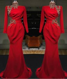 2019 vestido de noche rojo de encaje peplum Nuevos vestidos de fiesta de noche formales con cuello en V transparentes con apliques de encaje Tony Chaaya 2020 Ver a través de ilusión sexy Vestidos de fiesta de sirena roja BC2472 vestido de noche rojo de encaje peplum baratos