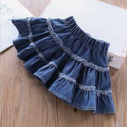 2dffe6f32e13b vêtements de garçon préppy Promotion 2019 Printemps enfants jupe en jean  enfants vêtements filles gland jean