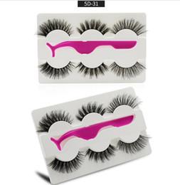 Canada 5D Cils réutilisables à la main Faux cils de vison Maquillage naturel Cils de vison avec 1 pincette Cils sans cruauté populaires Faux Cils populaires Offre