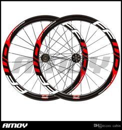 2020 ruedas de ciclocross pintura FFWD 700C disco de carbón 50 mm carbón del remachador de ruedas ruedas de carretera de ciclocross para bicicleta Disco de freno Ejes Ruedas rebajas ruedas de ciclocross