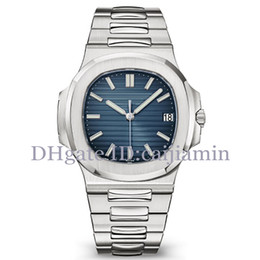 relojes de lujo de color Rebajas Color 9 Nautilus hombres del reloj del reloj automático de lujo 5711 correa de plata azul inoxidable mecánico del Mens Montre de luxe Reloj Chrono Fecha