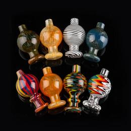 Bola dos eua on-line-Volcanee EUA tampão colorido carb dabber bolha de vidro Bola Carb Cap Banger Para 25mm Quartz Banger Unhas Água Bongos tubos Dab Rigs