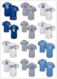 2035b159e Men s Women s Youth Kansas City 15 Whit Merrifield 35 Eric Hosmer 6 Lorenzo  Cain 8 Moustakas Gray white Mike Custom Baseball Jerseys Royals