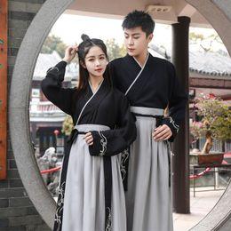 Китайский наряд черный онлайн-Черный Hanfu платье Китайский танец костюм Традиционный Performance Одежда династии Хань принцесса Классическая Outfit Performance Stage