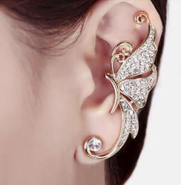 2019 orecchini orecchini dell'elfo orecchini firmati Pieni di orecchini di diamanti Orecchini a farfalla Elfo Polsino Nessun orecchino forato con clip per orecchini sconti orecchini orecchini dell'elfo