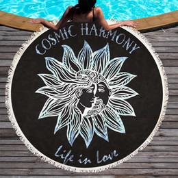 Senhoras de verão Praia Manto Circular Toalha Geometria Constelação Impressão Praia tapete Verão Toalha de Praia 150 * 150 cm MicrofiberTowel de