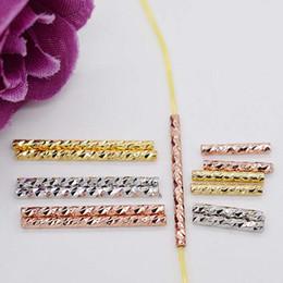 2020 perlenhalskettenmuster Gold 18K Rose Gold überzogene Platin DIY Perle Kristall Halskette Armband Wassermelone Muster Distanzrohr Gehäuse XLTG-ZG günstig perlenhalskettenmuster