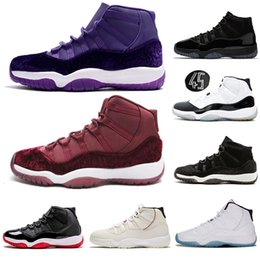 6cc0d51c5d0c Jumpman Concord High 45 11s XI Cap and Gown PRM Heiress Gym Red Chicago  Platinum Tint Space Jams Men Basketball Shoes sports Sneakers