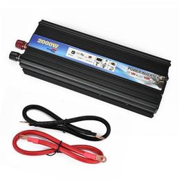 вентилятор охлаждения переменного тока Скидка XUYUAN инвертор автомобиля DC 12V AC 110V 50Hz Авто инвертор 2000W солнечная энергия Преобразователь с портом USB Cooling System Fan