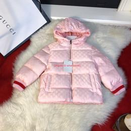 Chaquetas de dos caras online-Niños abajo de la chaqueta de los niños de ropa de diseño de otoño e invierno niños y niñas congelados chaquetas dos lados pueden usar diseño con capucha