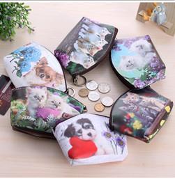 Симпатичные женские кошельки онлайн-Прекрасные 3D Печати Кошки Собачки Мешки для монет Кошельки для монет Кошельки для карточек Женщины Дамы Девочки Подарки