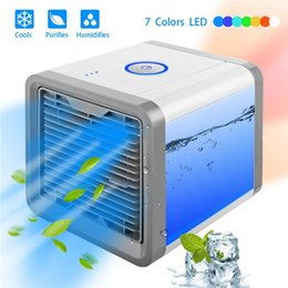 room cooling fan Coupons - Mini USB Portable Air Conditioner Humidifier Purifier 7 Colors Light Desktop Air Cooling Fan Air Cooler Fan For Office Room car