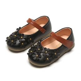2019 оптовые платья для девочек Детская маленькая обувь для девочек 2019 новые осенние цветы детская обувь с мягким дном маленькая девочка принцесса обувь средних детей