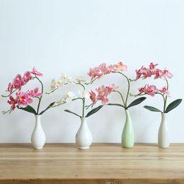Artificielle Orchidée Simulation fleur Plante Verte Avec Des Feuilles Pour La Maison De Mariage Salon Salon Arrangement De Bureau Tv Décoratif ? partir de fabricateur
