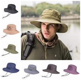 sombreros de mujer Rebajas Hombres plegables Sombrero de cubo Sombreros de playa para señora Sombrero de pescador Sombreros de ala ancha Pesca al aire libre Senderismo Caza Sombreros de sol Sombrero alpino Gorra unisex ZZA887