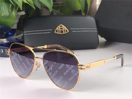Coche nuevo color online-Nueva marca de coches de lujo de moda las gafas de sol 112 MAYBACH piloto de alta calidad de la lente UV400 de impresión color de revestimiento estilo de diseño del marco de vanguardia
