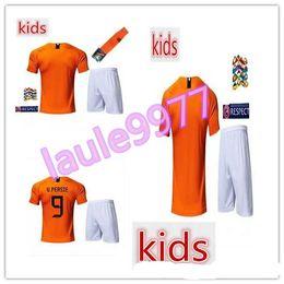 kids Netherlands soccer jersey 2018 2019 child kit V.PERSIE MEMPHIS  SNEIJDER football jerseys HOLLAND ROBBEN 18 19 boys scooer shirt 36d737bc8