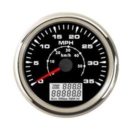 Vélomètre de compteur de vitesse GPS marin automatique 0-35MPH 0-55KM / H kilométrage rétroéclairé 85mm ? partir de fabricateur