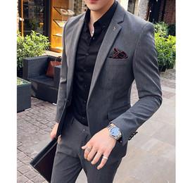 casaco casual Desconto 2019 tailcoat alfaiate completo formal casaco elegante blazer jaqueta americana casual slim fit homens terno