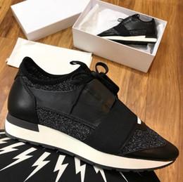 moda scarpe nuovo modello Sconti Stilista Moda Donna Scarpe Uomo Sneaker casual Nuovo modello Scarpe da ginnastica in pelle mesh Sneaker da corsa chaussure femme Drop Shipping US 5-12
