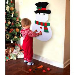 kinder weihnachten ornamente Rabatt Hängen Innendekoration Kinder Weihnachtsdekoration für DIY Felt Christmas Snowman Ornaments Geschenke Wandbehang toysT2I5467