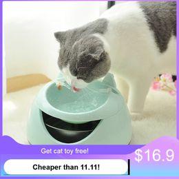 2019 fontane per bere cane Automatico Luminoso Animali domestici Fontana per gatti Cani fontana USB Distributore di acqua elettrico per ciotole per gatto sconti fontane per bere cane