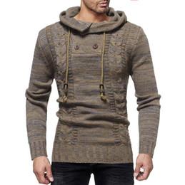 Yüksek kalite Moda Stilist Stil erkek keçeleşmiş kruvaze patchwork kapşonlu kazak erkek rahat kazaklar nereden
