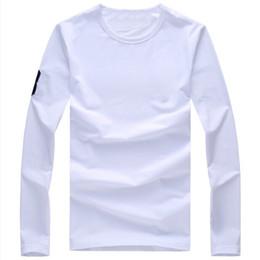 T-shirt uomo manica lunga T-shirt polo uomo manica lunga T-shirt polo uomo in cotone sport da commercio all'ingrosso ant nero fornitori