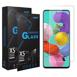 iphone hochwertiges kameraobjektiv Rabatt Ausgeglichenes Glas für Samsung A01 A11 A21 A51 A71 A21S 5G Galaxy A10S A20S J2 Core-Note 10 S10 Lite Clear Displayschutzfolie