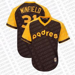 ropa interior negro brillante Rebajas 100% bordado personalizado de Dave Winfield Brown lejos jerseys cosido Personalizar cualquier número nombre MEN XS-5XL NCAA JERSEY