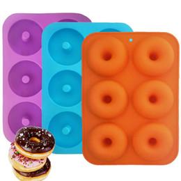 2019 großhandel edelstahl geschirr Silikon Donut Backform Full Size Donuts Antihaft-BPA-freie Donutform