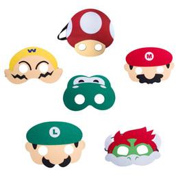 nette karikaturgesichtsmasken Rabatt Cartoon Kind Maskerade Maske Super Mario Frosch Doppelschicht Masken Halloween Party Maske Nette Kinder Halbe Gesichtsmasken Kindspielzeug DBC VT0585