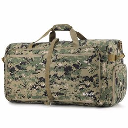 Bandolera cordura online-Gonex 100L Cordura Travel Duffle Bag Equipaje plegable Duffel Handy Shoulder Bag Estilo táctico estilo militar Viaje de negocios Gimnasio Deportes # 369145