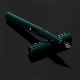 2019 bestes schreiben füllfederhalter Palladium Trim Green Füllfederhalter Fine Nib Smooth Writing Ink Bestes Geschenk rabatt bestes schreiben füllfederhalter