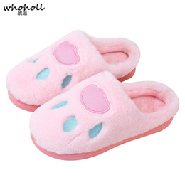 Pantofole dell'artiglio online-WHOHOLL Home Slippers Women Slipppers Cute Claw Female House Indoor Uomo Pantofole da bagno Solid Adult Pantufa for Lovers