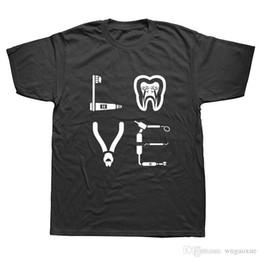 Camisa de profissão on-line-Dentist Tooth Dental Teeth Profissão T-shirt 3D Streetwear Verão engraçado algodão de manga curta Humor Camisetas