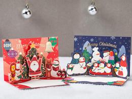 Canada Nouvelle carte de voeux de Noël en trois dimensions européenne Thanksgiving, cadeau créatif, décorations, cartes postales Offre