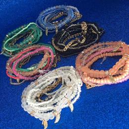 bracelets bohème multicouches Promotion Printemps Coréen Designer Fashion Bohême Perles Bracelet cristal Perlé Multicouche Brin Bracelets Bracelets Pour les femmes Fille PAR DHL
