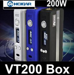 Dna chips online-100% authentischer HCIGAR VT200 TC Box Mod mit DNA 200 Chip VT 200 Mods Temp Control gegen sx mini mi G Klasse Stick v8 qc Dual Mods 100% original