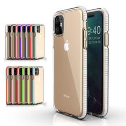 Nota de la caja del teléfono celular online-Funda para teléfono Funda transparente para teléfono celular de TPU Cubierta a prueba de golpes de doble color para iPhone 11 Xs Max XR 8 Samsung S10 Plus Nota 10