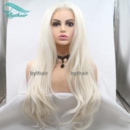 Weiches, welliges haar online-Synthetische Lace Front Perücke natürliche weiche gewellte Haare hellblond hitzebeständige Faser Cosplay Perücke lange aschblonde Perücken für weiße Frauen Bythair
