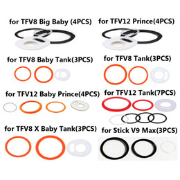 2019 kit smok e cig Joints toriques en silicone pour Smok TFV12 Prince TFV12 bébé prince TFV8 bébé TFV8 X-bébé TFV8 Big Baby Tank