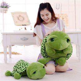 Canada Super mignon vert grands yeux tortue en peluche tortue oreiller bébé jouet cadeau cadeau fête des enfants supplier big eye cute baby toy Offre