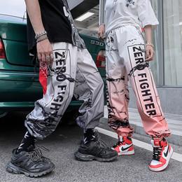 2019 pantalon de sport pour jeunes 19ss Style Streetwear Pantalon Hip Hop Unisexe Jogger Sport Pantalon Jeunesse De La Mode De Couleur Gradient Lettre Sarouel Pantalon D'été pantalon de sport pour jeunes pas cher