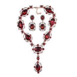 PPGPGG-Anweisung Halskette grünes Glas Goldkette Kristall Brautschmuck Sets Vintage Perle Bijoux Zubehör von Fabrikanten
