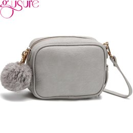 ball trends Promo Codes - Gusure Fashion Trend Small Shoulder Bags with Fur Ball hanging Messenger Bag for Women Casual Mini Sweet Crossbody Bags