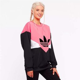 Wholesale Designer Hoodie Frauen Hoodies und Sweatshirts Lässige Hoodie Neue Mode Flut Luxus Frauen Hoody mit Gedruckt Brief Rosa M XL