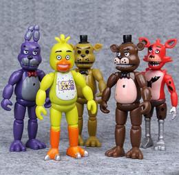 5 Pcs / Ensemble Cinq Nuits À Freddys Freddy jouets 14 cm Bonnie Foxy Fazbear Ours PVC Figurines Cadeau Cadeau ? partir de fabricateur